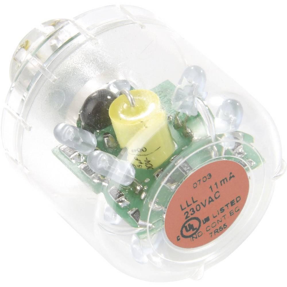 Auer Signalgeräte LED-svetilka LED-neprekinjena luč LLL rdeča, 24 V AC/DC, BA15d