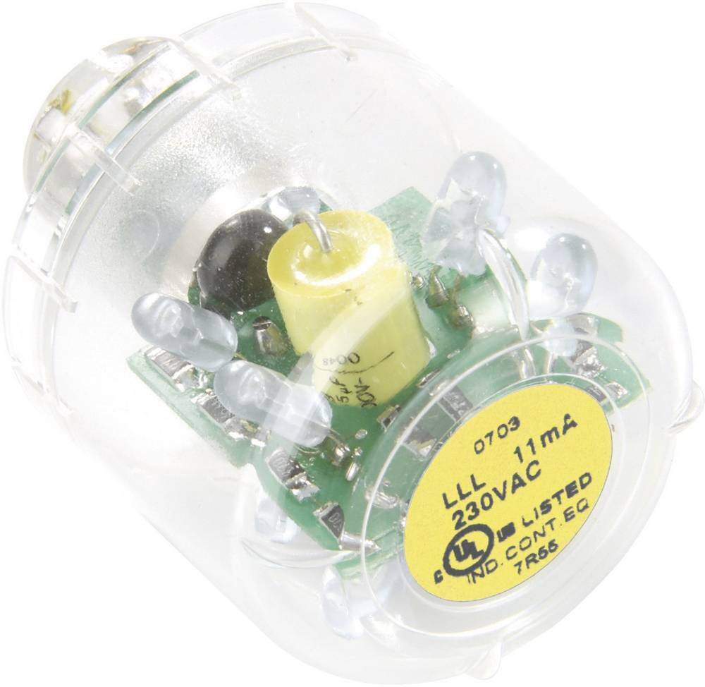 Auer Signalgeräte LED-svetilka LED-neprekinjena luč LLL rumena, 230/240V AC, BA15d