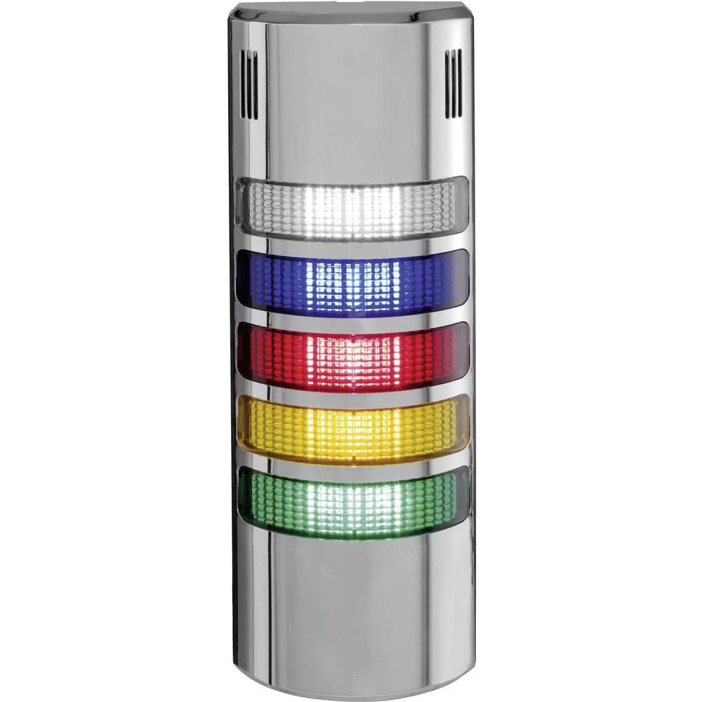 Auer Signalgeräte LED-signalni stolpični sistem halfDOME90 HD90 LED-neprekinjena luč modra, jasna, rdeča, oranžna, zelena 5-fazn