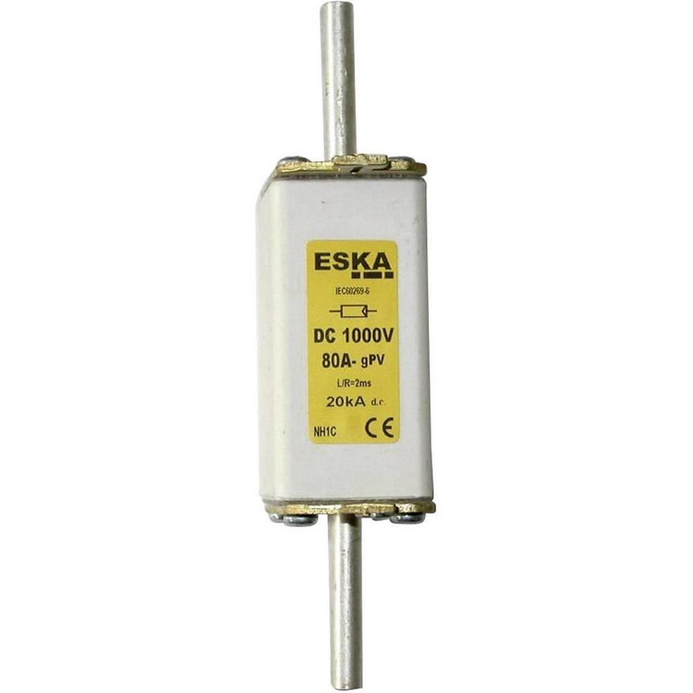 NH-sikring Sikringsstørrelse = 1C 80 A 1000 V/DC ESKA NH 1C 1000V DC 80A