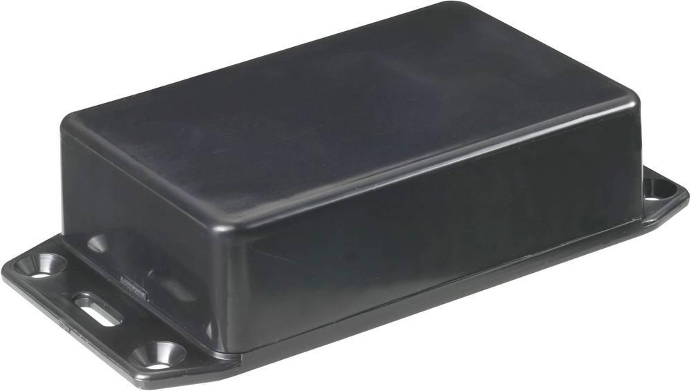 Euro-kabinet 112 x 62 x 31 ABS Sort Hammond Electronics 1591BFLBK 1 stk