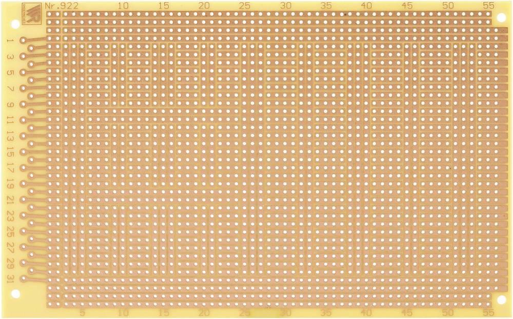 Printplade til eksperimenter Hårdt papir (L x B) 160 mm x 100 mm 35 µm Rastermål 2.54 mm WR Rademacher WR-type 922 Indhold 1 stk