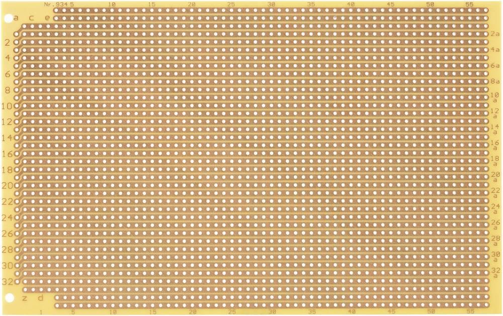 Printplade til eksperimenter Hårdt papir (L x B) 160 mm x 100 mm 35 µm Rastermål 2.54 mm WR Rademacher WR-type 934 Indhold 1 stk
