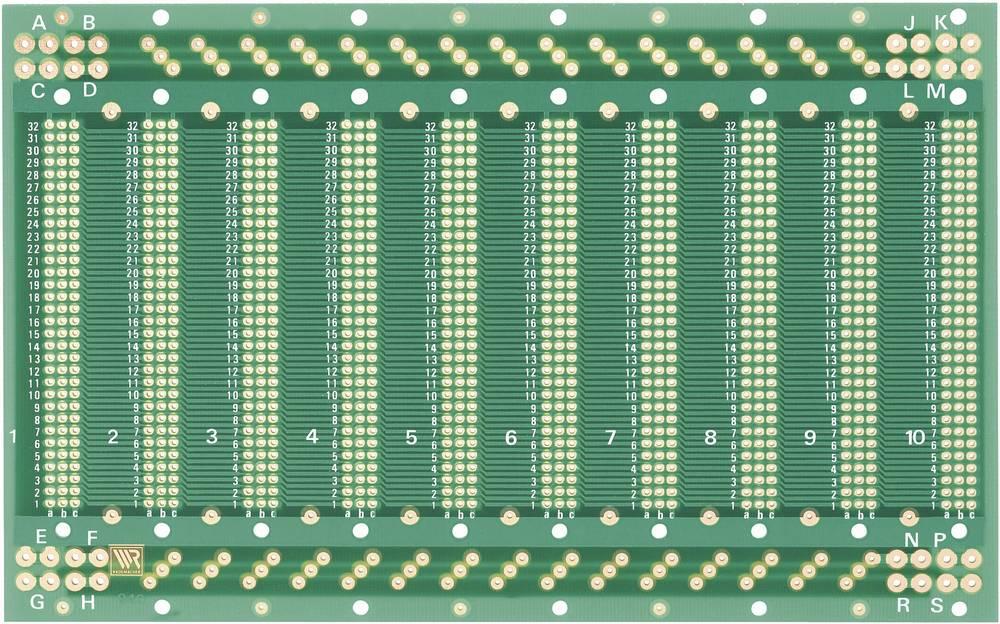 WR Rademacher Laboratorijska plošča (D x Ĺ x V) 203.2 x 128x 1.5 mm Mere rastra 2.54 mm C-940
