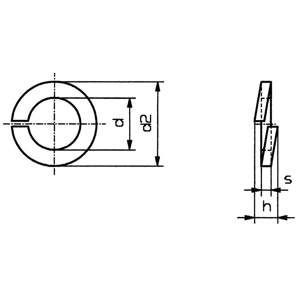 Split Lock Rings Inside Diameter 41 Mm M4 Din 127 From Schematic