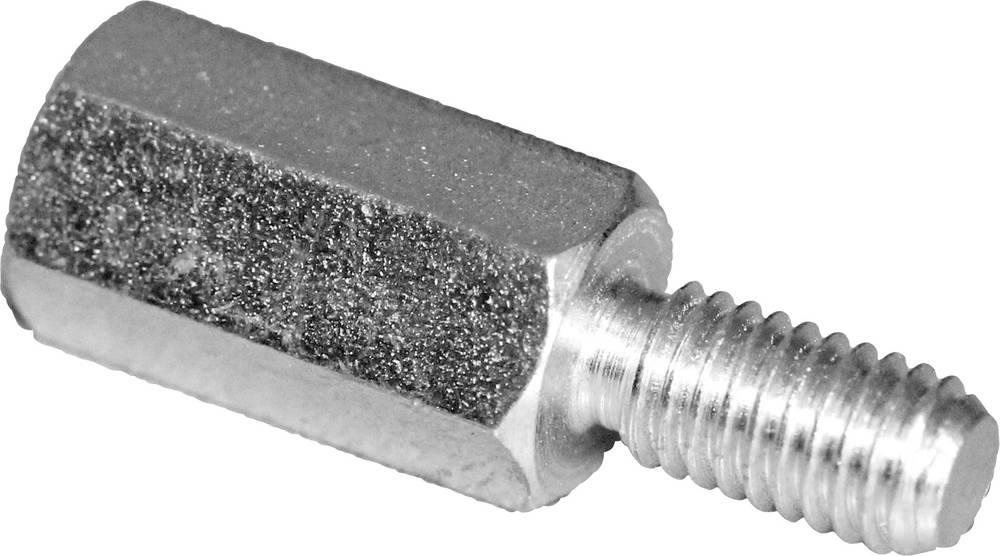 Afstandsbolte (L) 25 mm M3x7 M3x6 Stål verzinkt PB Fastener S45530X25 10 stk