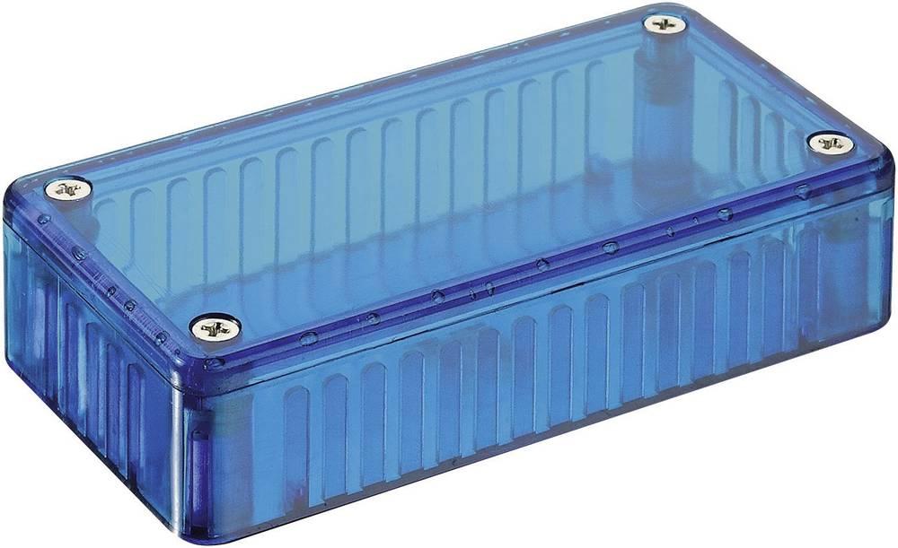 Hammond Electronics Transparent polykarbonatkabinet 1591 DTBU (L x B x H) 150 x 80 x 50 mm Blå