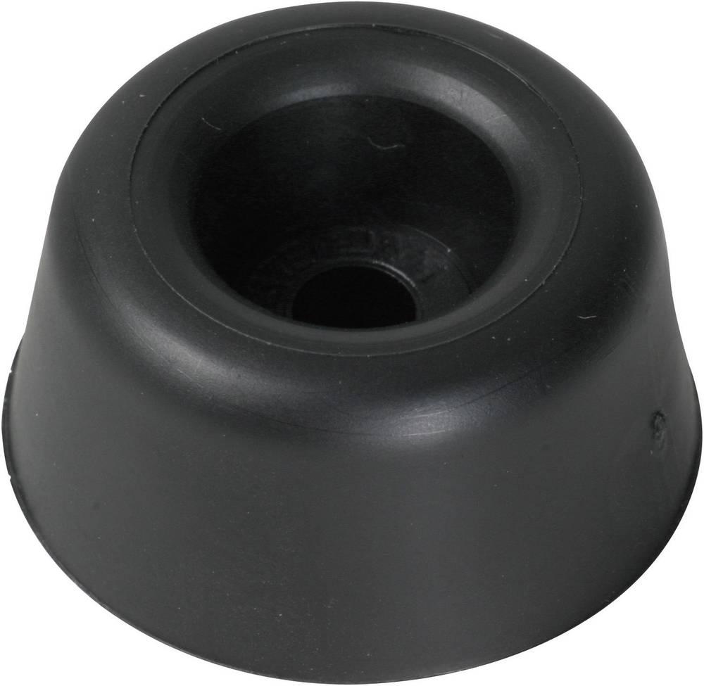 Påskruningsbuffer PB Fastener 100961 Sort (Ø x H) 25 mm x 10 mm 1 stk