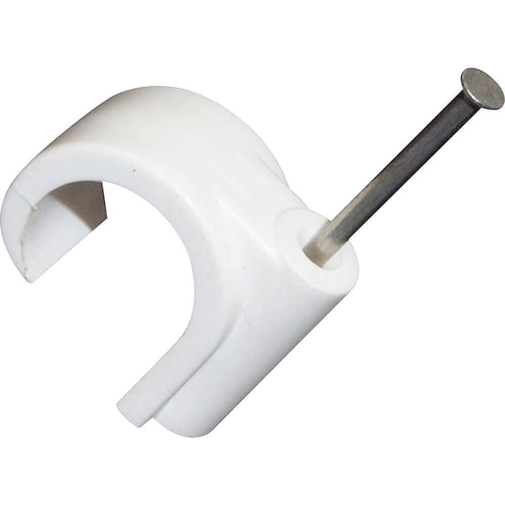 Objemke z žebljom bele barve (mat) Conrad Components 523530 100 kos
