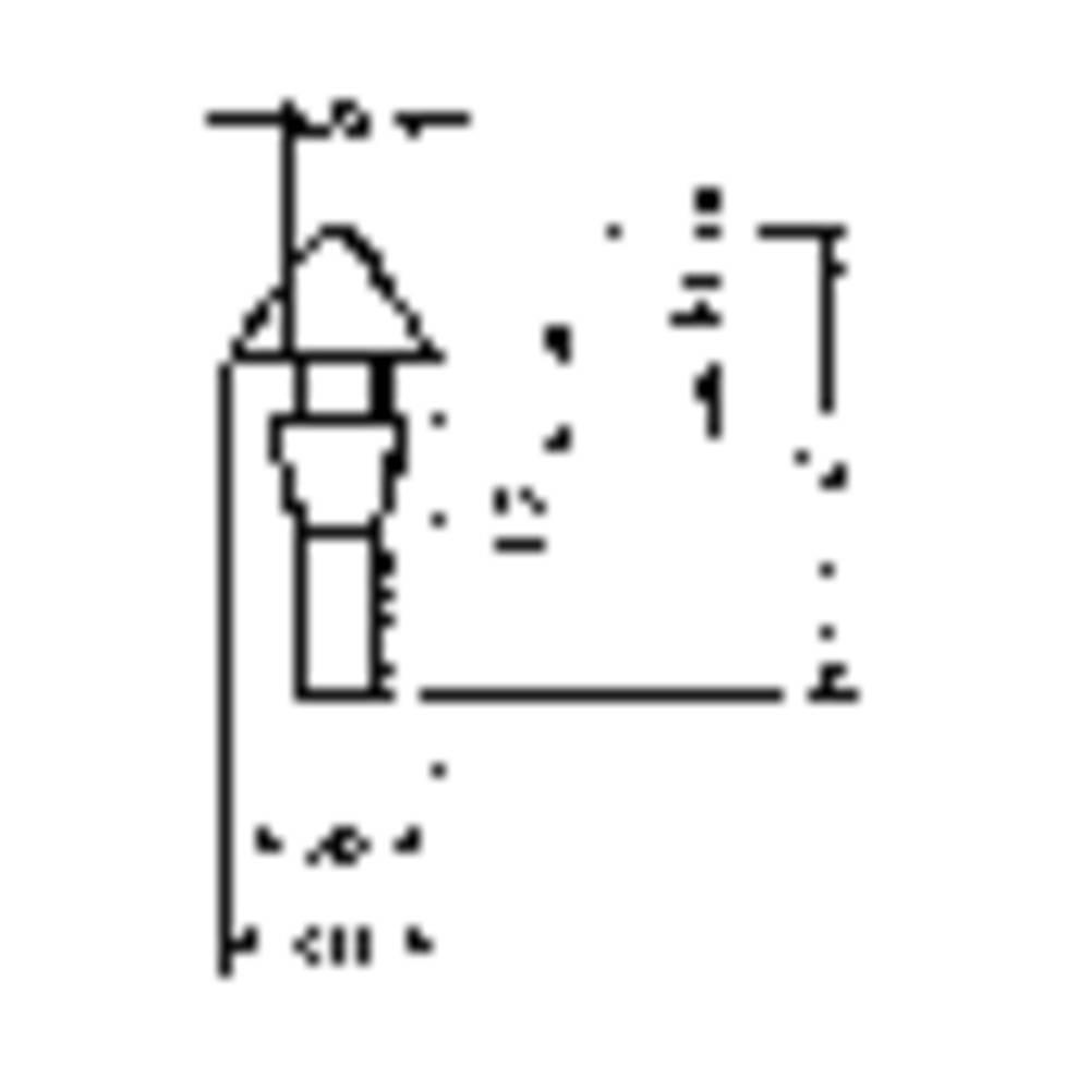 PB Fastener Podnožje, crno (Ĺ 1x h1 x Ĺ 2 x h2 x Ĺ 3 x h3) mm4.8 x 2.4 x 2.8 x 1.2 x 2.0 x 1245-01