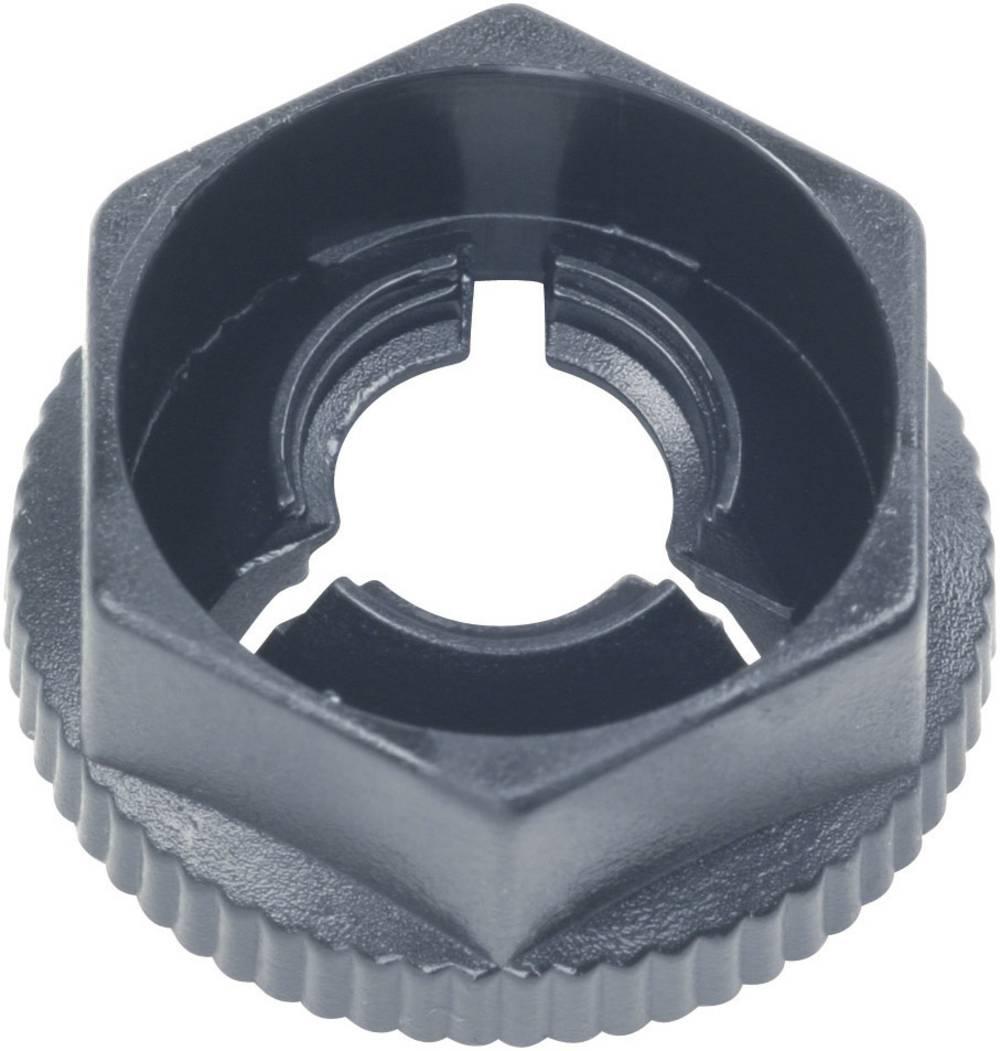Utična matica, poliamid crne boje PB Fastener KN50 1 kom