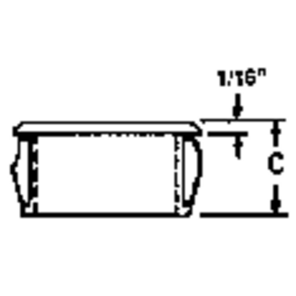 Kabelska uvodnica premer sponke (maks.) 12.7 mm poliamid črne barve PB Fastener AF0750 1 kos