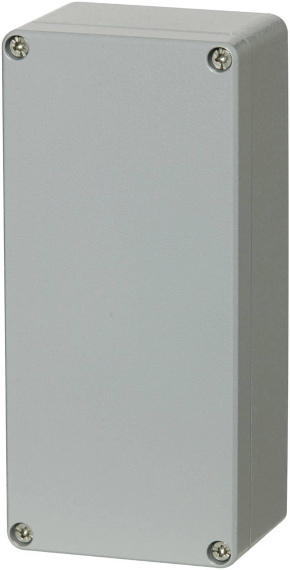 Universalkabinet 222 x 125 x 81 Aluminium Sølvgrå (RAL 7001, pulverlakeret) Fibox ALN 122208 1 stk