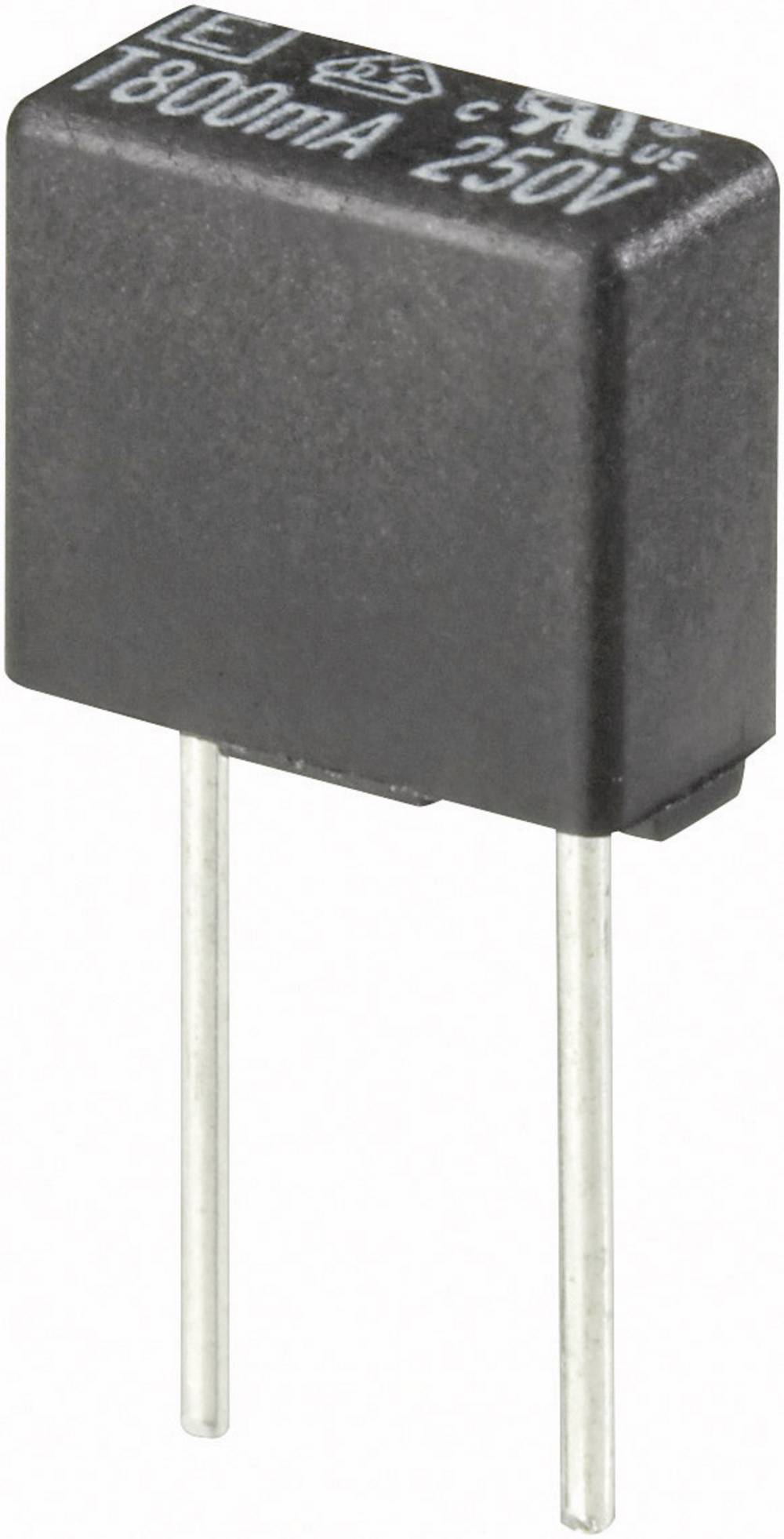 Mikrosikring ESKA 883011 250 mA 250 V kantet Træg -T- med radial tråd 500 stk