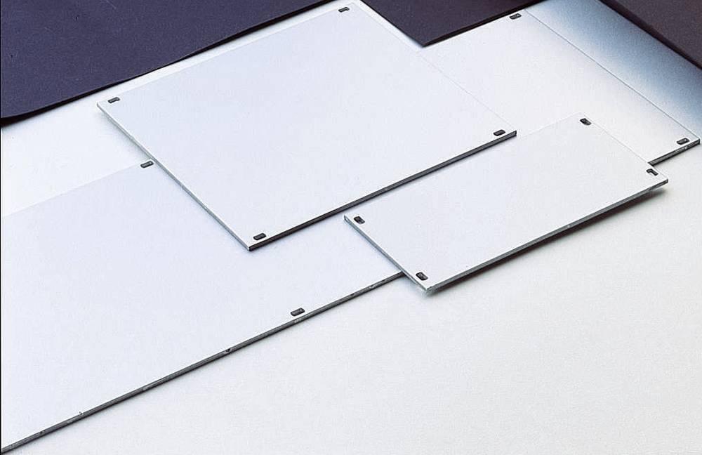 3 HE-prednja ploča, aluminij (Š x V) 60.7 mm x 128.4 mm srebrna, mat, eloksirana