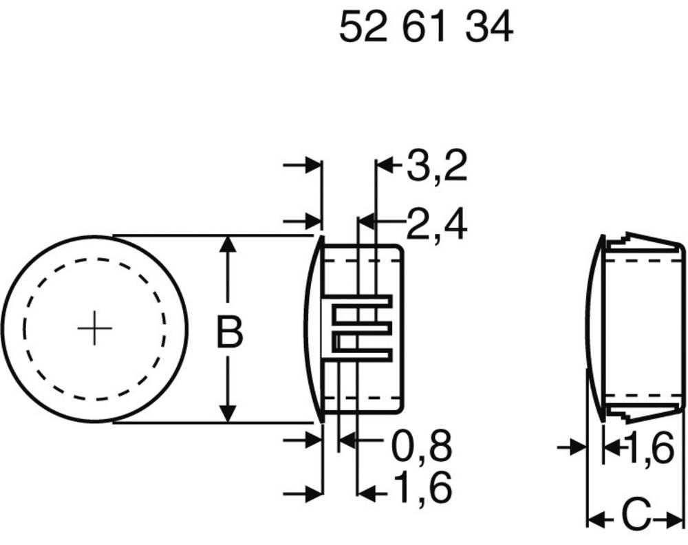 Zamašek črne barve PB Fastener 76064 1 kos