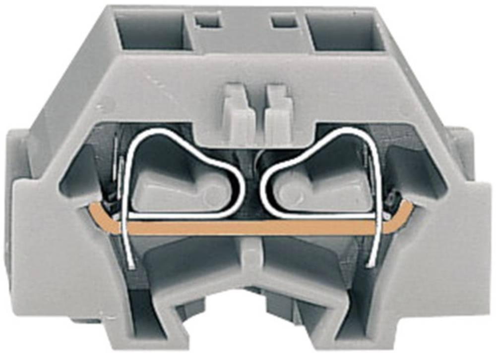 Enkelt klemme 8 mm Trækfjeder Belægning: L Grå WAGO 260-331 1 stk