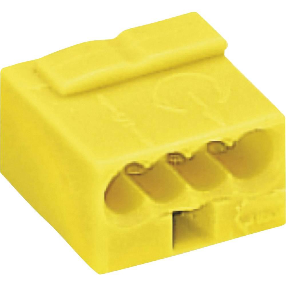 Mikro priključna sponka Wago serije 243, prečni prerez: 0,6-0,8 mm2, 6 A, rumena 243-504