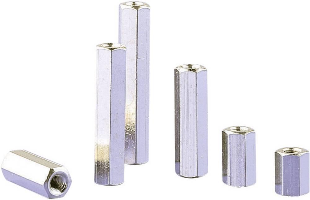 Razdaljni sornik 2 x notranjinavoj medenina velikost ključa 5.5 mm II-MS-3-5,5-07,5