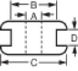 Kabelska uvodnica premer sponke (maks.) 5 mm PVC črne barve 1 kos