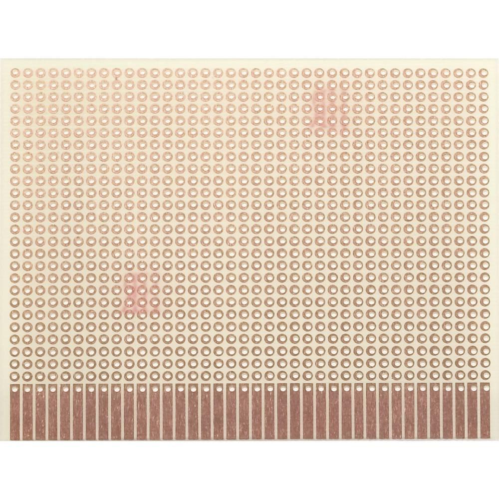 Printplade til eksperimenter Epoxid (L x B) 100 mm x 80 mm 35 µm Rastermål 2.54 mm WR Rademacher WR-Typ 903-1 Indhold 1 stk