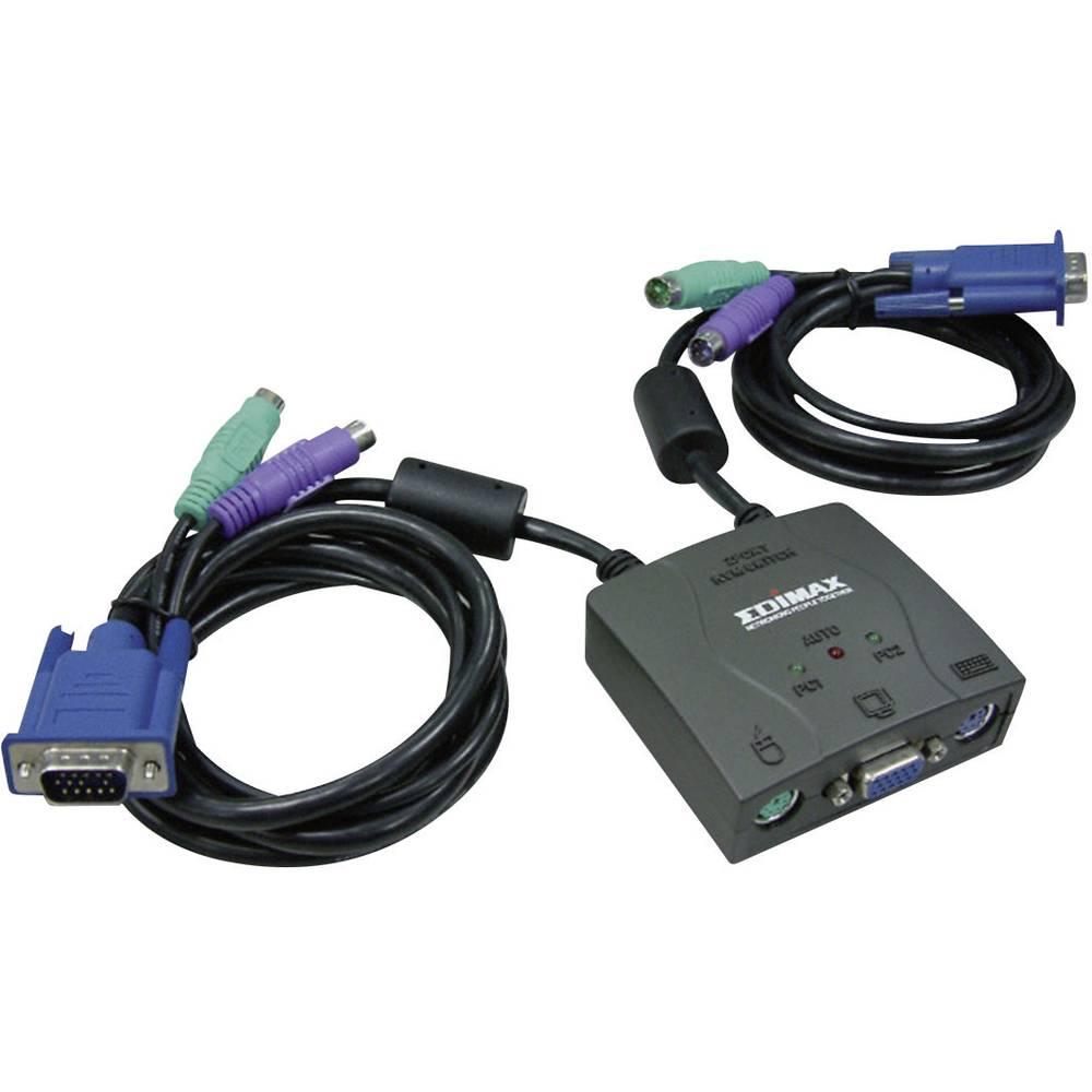 Edimax 2 Port Usb Kvm Switch Kabel Audio From Way