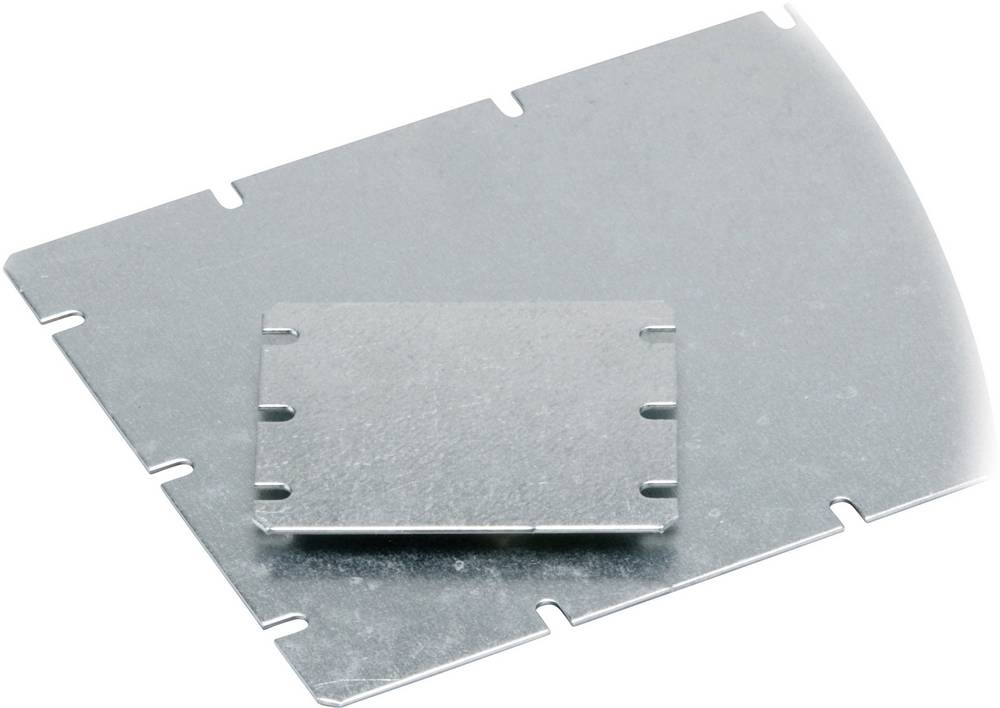 Fibox Mounting plate for MNX MIV 100 (L x W) 98 mm x 48 mm Steel Light grey Compatible with Order no. 52 76 14 · Order no. 52 76