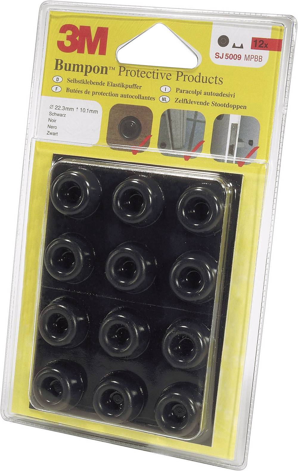 Bumpon elastični ublaživači, komplett (O x V) 22.3 mm x 10.1mm SJ 5009 MPBB 3M