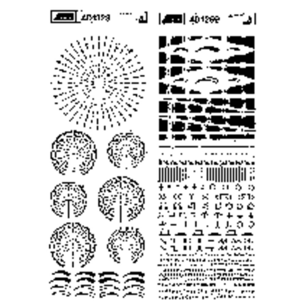 Seno Symbols For Printed Circuits L X W 250 Mm 90 Black From In