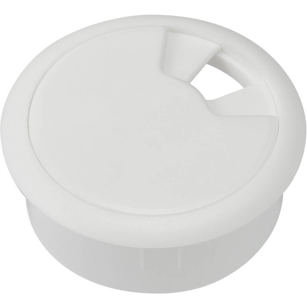 Kabelska uvodnica za delovno ploščo ABS bele barve Conrad Components 530045 1 kos