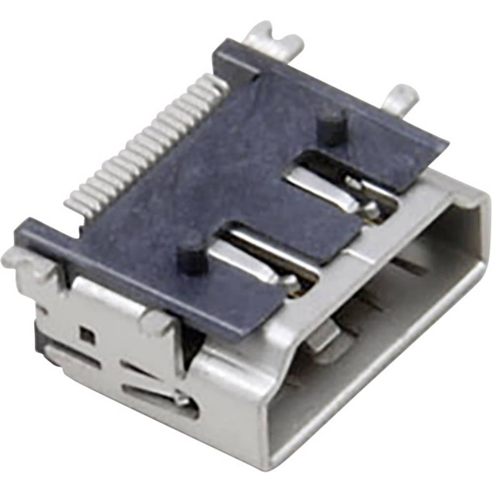 Vgradni ženski konektor, združljiv s HDMI SMD-montaža na tiskano vezje 907006 BKL Electronic