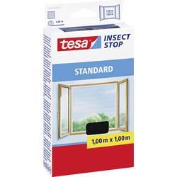 tesa tesa ®  fluegitter Standard til vinduer (L x B) 1000 mm x 1000 mm Antracit Insektebekæmpelse og -fangere 55670-21