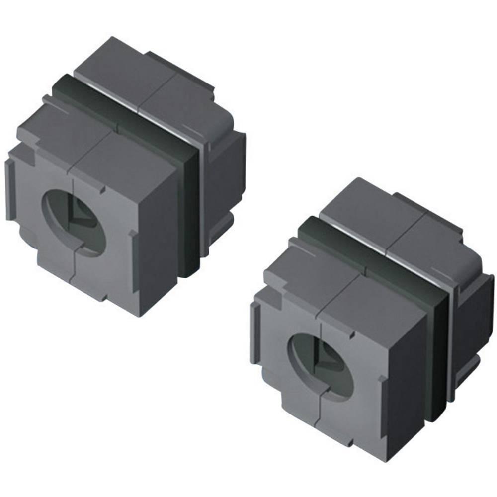 Rittal 2400960-Brtveni modul za usmjeravanje kablova, zatvoren, 40x40mm, IP64, crn, 10 komada 2400.960