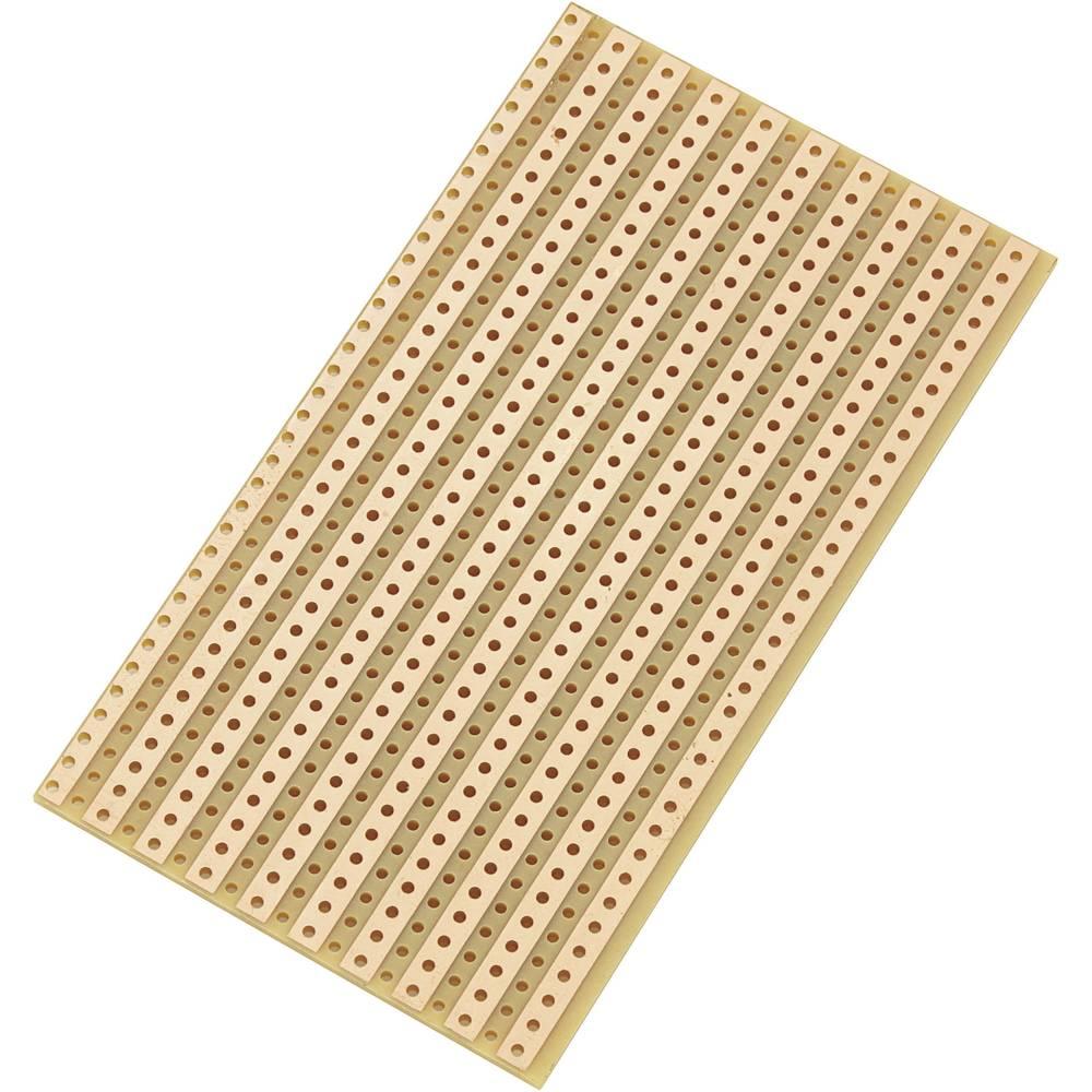 Europrintplade Hårdt papir (L x B) 90 mm x 50 mm 35 µm Rastermål 5.08 mm Conrad Components SU527610 Indhold 1 stk