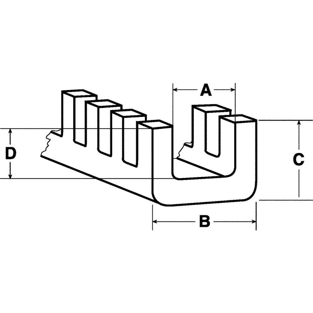 HellermannTyton 251-10409 G51P-D-PE-NA Flexiform Edge