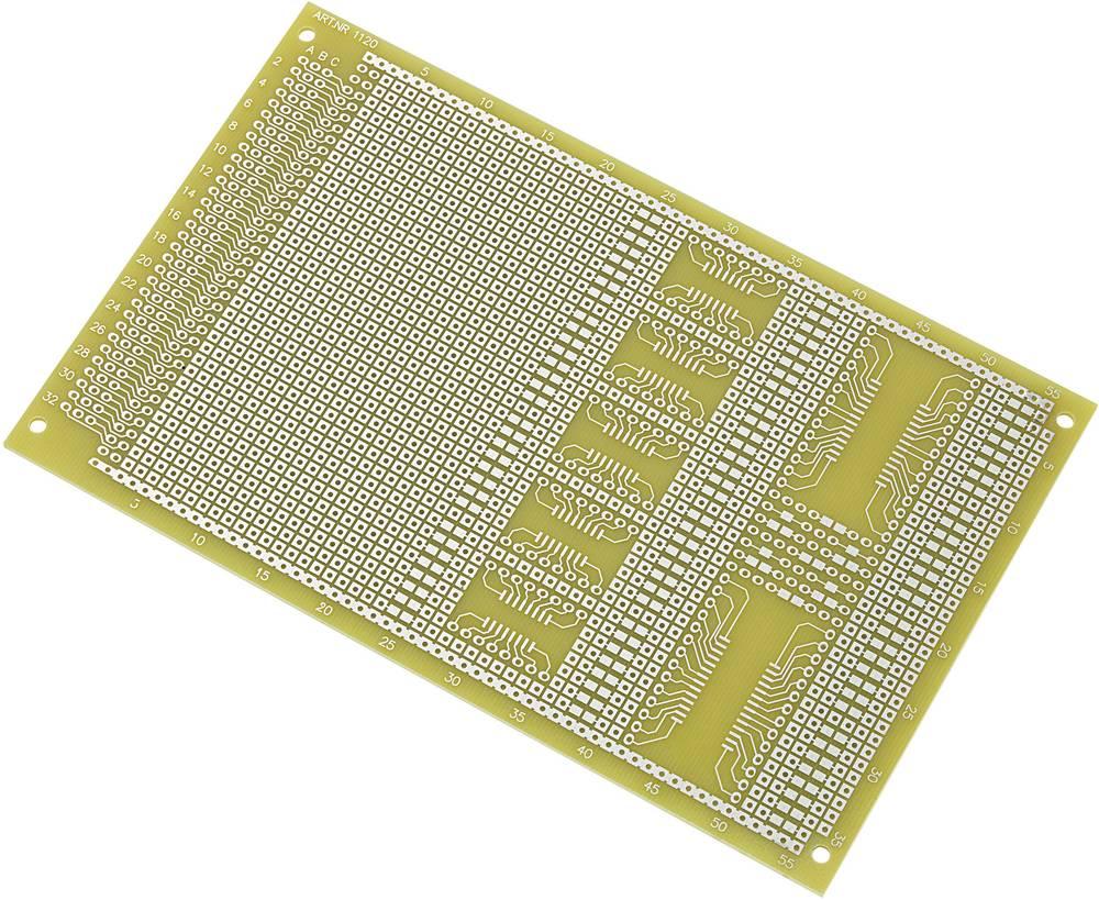 SMD-Europrintplade Epoxid (L x B) 160 mm x 100 mm 35 µm Rastermål 2.54 mm Conrad Components SU527858 Indhold 1 stk