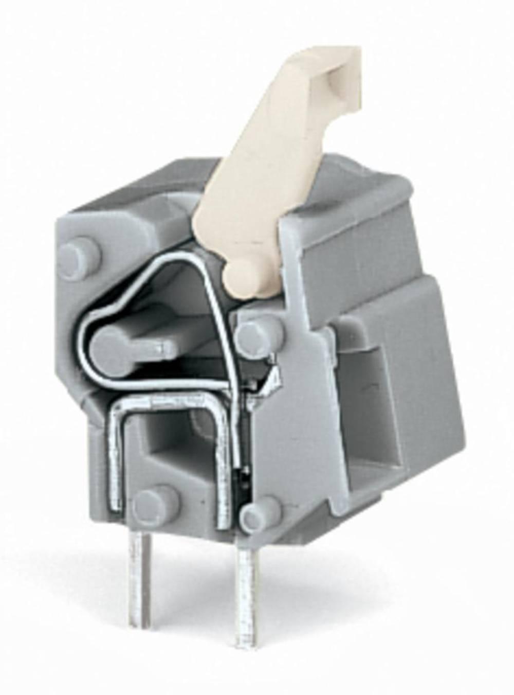 Fjederkraftsklemmeblok WAGO 2.50 mm² Poltal 1 Lysegrå 300 stk