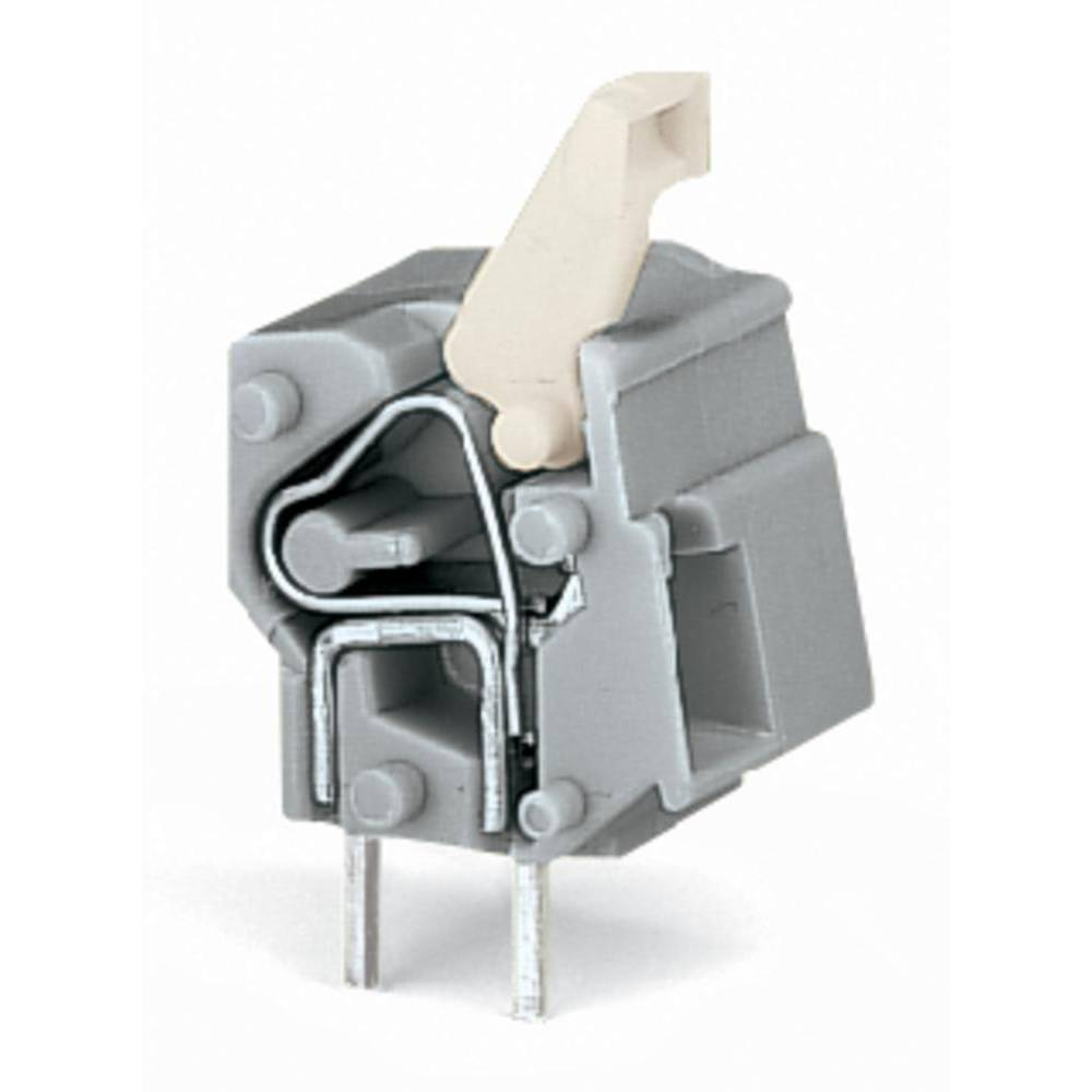 Fjederkraftsklemmeblok WAGO 2.50 mm² Poltal 1 Mørkegrå 300 stk
