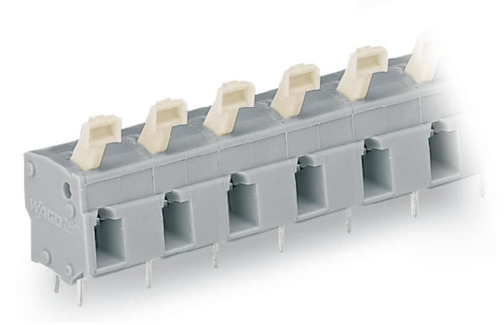 Fjederkraftsklemmeblok WAGO 2.50 mm² Poltal 5 Grå 80 stk