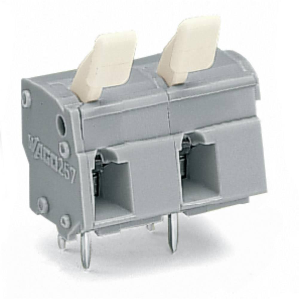 Fjederkraftsklemmeblok WAGO 2.50 mm² Poltal 2 Grå 220 stk