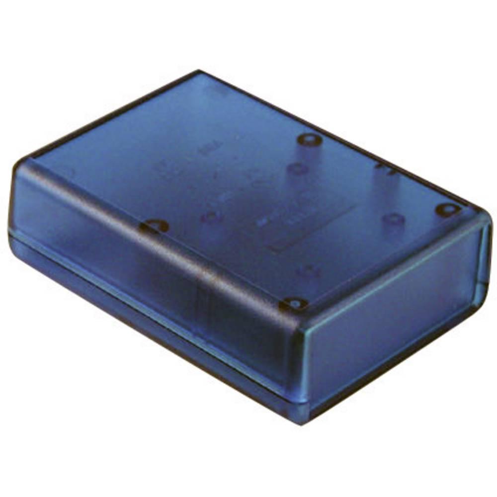 Hammond Electronics 1593JTBU-Ručno kućište, ABS plavo, prozirno, 66x66x28mm