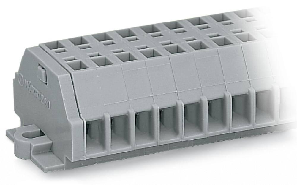 Klemmerække 5 mm Trækfjeder Belægning: L Grå WAGO 260-161 25 stk