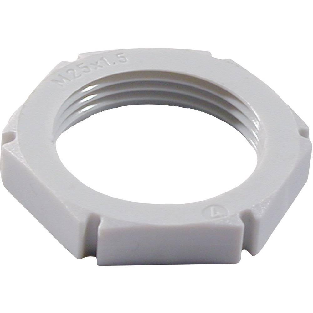 Sigurnostna matica M50, poliamid srebrno sive boje Wiska EMUG M50 RAL 7001 1 kom