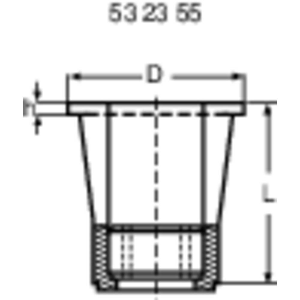Blind nuts 02.13,040 (Ø x H) 9.4 mm x 0.4 mm Polyamide