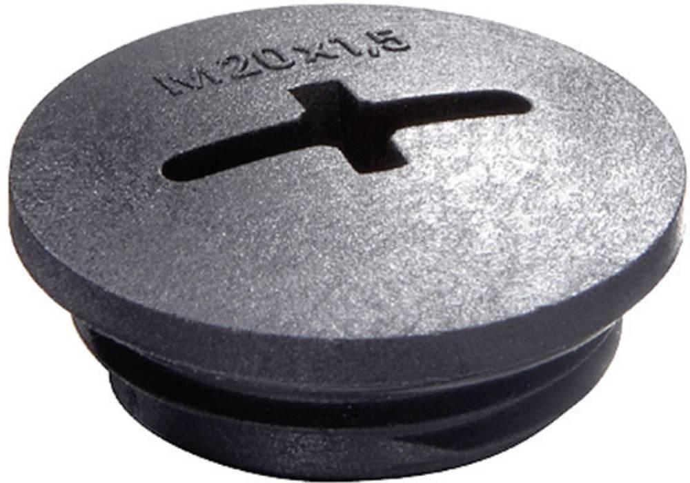 Zaklepni vijak M40, poliamid črne barve (RAL 9005) Wiska EVSG M40 RAL 9005 1 kos