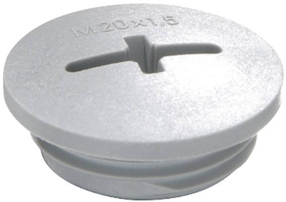 Vijak za zaključavanje M12, poliamid srebrno sive boje (RAL 7001) Wiska EVSG M12 RAL 7001 1 kom