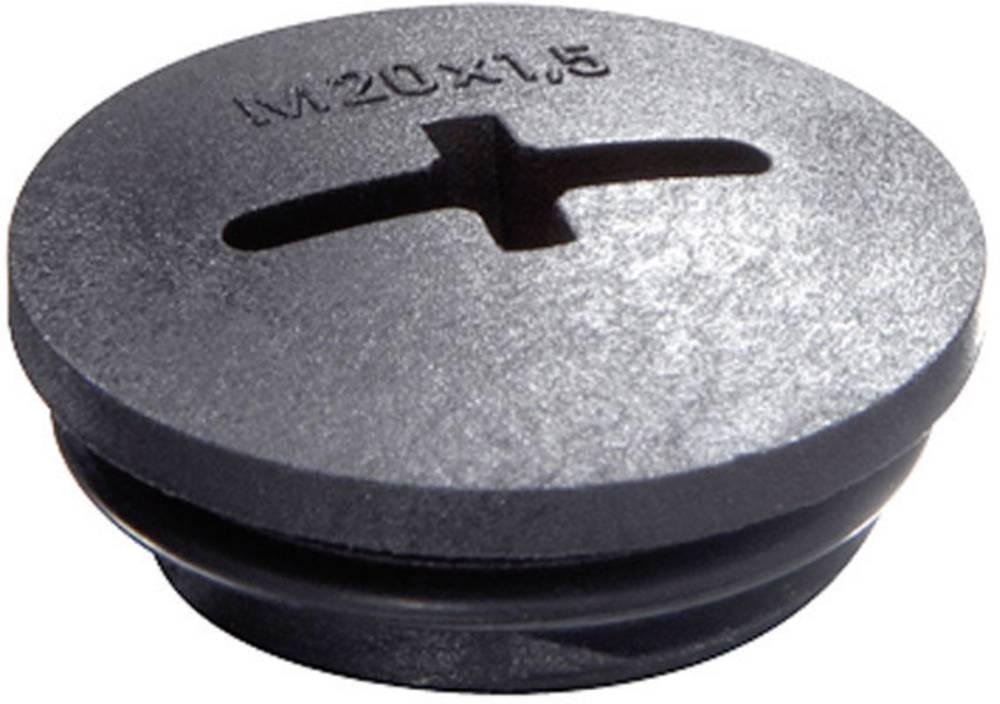 Zaklepni vijak M16, poliamid črne barve (RAL 9005) Wiska EVSG-ORD M16 RAL 9005 1 kos