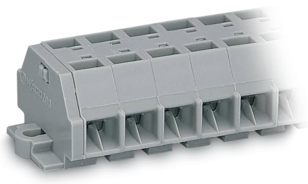 Klemmerække 8 mm Trækfjeder Belægning: L Grå WAGO 260-209 50 stk