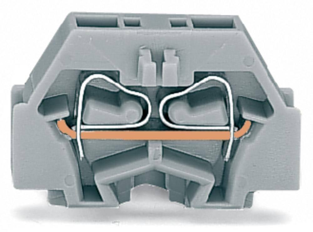 Enkelt klemme 5 mm Trækfjeder Belægning: N Blå WAGO 260-314 300 stk