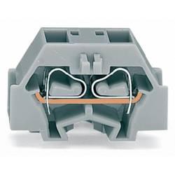 Enkelt klemme 8 mm Trækfjeder Belægning: L Grå WAGO 260-341 300 stk
